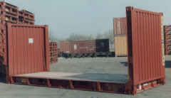 Container 20' flat rack collapsible