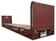 Container 40' flat rack collapsible
